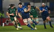 2 January 2021; Ryan Baird of Leinster gets past Eoghan Masterson, left, and Quinn Roux of Connacht during the Guinness PRO14 match between Leinster and Connacht at the RDS Arena in Dublin. Photo by Piaras Ó Mídheach/Sportsfile