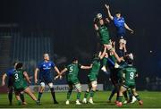 2 January 2021; Gavin Thornbury of Connacht wins possession in the line-out ahead of Ryan Baird of Leinster during the Guinness PRO14 match between Leinster and Connacht at the RDS Arena in Dublin. Photo by Piaras Ó Mídheach/Sportsfile