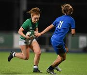 24 October 2020; Laura Sheehan of Ireland during the Women's Six Nations Rugby Championship match between Ireland and Italy at Energia Park in Dublin. Due to current restrictions laid down by the Irish government to prevent the spread of coronavirus and to adhere to social distancing regulations, all sports events in Ireland are currently held behind closed doors. Photo by Brendan Moran/Sportsfile
