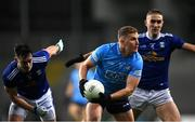 5 December 2020; Ciarán Kilkenny of Dublin in action against Gerard Smith, left, and Killian Clarke of Cavan during the GAA Football All-Ireland Senior Championship Semi-Final match between Cavan and Dublin at Croke Park in Dublin. Photo by Piaras Ó Mídheach/Sportsfile