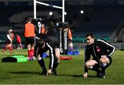 8 January 2021; Officials including assistant referee Sean Gallagher, right, inspect the pitch prior to the Guinness PRO14 match between Leinster and Ulster at the RDS Arena in Dublin. Photo by Seb Daly/Sportsfile