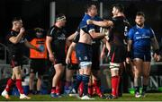 8 January 2021; James Ryan of Leinster and Sam Carter of Ulster tussle off the ball during the Guinness PRO14 match between Leinster and Ulster at the RDS Arena in Dublin. Photo by Ramsey Cardy/Sportsfile