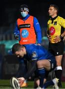 8 January 2021; Garry Ringrose of Leinster watches on from the sideline  during the Guinness PRO14 match between Leinster and Ulster at the RDS Arena in Dublin. Photo by Ramsey Cardy/Sportsfile