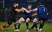 8 January 2021; Seán Cronin of Leinster is tackled by Marcell Coetzee of Ulster during the Guinness PRO14 match between Leinster and Ulster at the RDS Arena in Dublin. Photo by Brendan Moran/Sportsfile