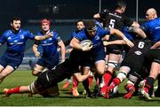 8 January 2021; Seán Cronin of Leinster is tackled by Jordi Murphy of Ulster during the Guinness PRO14 match between Leinster and Ulster at the RDS Arena in Dublin. Photo by Ramsey Cardy/Sportsfile