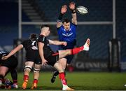8 January 2021; Cian Healy of Leinster attempts to block a box kick from John Cooney of Ulster during the Guinness PRO14 match between Leinster and Ulster at the RDS Arena in Dublin. Photo by Seb Daly/Sportsfile