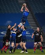 8 January 2021; James Ryan of Leinster wins possession in the lineout during the Guinness PRO14 match between Leinster and Ulster at the RDS Arena in Dublin. Photo by Seb Daly/Sportsfile