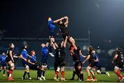 8 January 2021; Alan O'Connor of Ulster wins possession in the lineout against James Ryan of Leinster during the Guinness PRO14 match between Leinster and Ulster at the RDS Arena in Dublin. Photo by Brendan Moran/Sportsfile