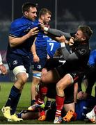 8 January 2021; Jack Conan of Leinster and Ian Madigan of Ulster tussle during the Guinness PRO14 match between Leinster and Ulster at the RDS Arena in Dublin. Photo by Brendan Moran/Sportsfile