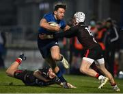 8 January 2021; Hugo Keenan of Leinster is tackled by Michael Lowry of Ulster during the Guinness PRO14 match between Leinster and Ulster at the RDS Arena in Dublin. Photo by Brendan Moran/Sportsfile
