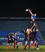 8 January 2021; James Ryan of Leinster takes possession in a line-out ahead of Ulster's Alan O'Connor during the Guinness PRO14 match between Leinster and Ulster at the RDS Arena in Dublin. Photo by Seb Daly/Sportsfile