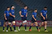 8 January 2021; Leinster players, from left, Hugo Keenan, Caelan Doris, James Ryan, Jordan Larmour and Robbie Henshaw during the Guinness PRO14 match between Leinster and Ulster at the RDS Arena in Dublin. Photo by Seb Daly/Sportsfile
