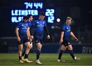 8 January 2021; Jonathan Sexton of Leinster, centre, alongside team-mates, from left, Robbie Henshaw, Jack Conan and James Tracy during the Guinness PRO14 match between Leinster and Ulster at the RDS Arena in Dublin. Photo by Seb Daly/Sportsfile