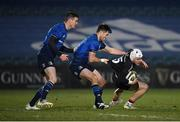 8 January 2021; Michael Lowry of Ulster is tackled by Ross Byrne of Leinster during the Guinness PRO14 match between Leinster and Ulster at the RDS Arena in Dublin. Photo by Seb Daly/Sportsfile