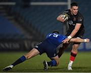 8 January 2021; James Hume of Ulster is tackled by Ross Byrne of Leinster during the Guinness PRO14 match between Leinster and Ulster at the RDS Arena in Dublin. Photo by Seb Daly/Sportsfile