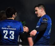 8 January 2021; Jonathan Sexton, right, and Jimmy O'Brien of Leinster following their side's victory during the Guinness PRO14 match between Leinster and Ulster at the RDS Arena in Dublin. Photo by Seb Daly/Sportsfile