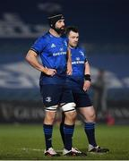 8 January 2021; Scott Fardy, left, and Cian Healy of Leinster during the Guinness PRO14 match between Leinster and Ulster at the RDS Arena in Dublin. Photo by Seb Daly/Sportsfile