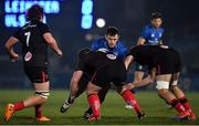 8 January 2021; Cian Healy of Leinster is tackled by Andrew Warwick, left, and Alan O'Connor of Ulster during the Guinness PRO14 match between Leinster and Ulster at the RDS Arena in Dublin. Photo by Seb Daly/Sportsfile