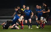 8 January 2021; Ross Byrne of Leinster is tackled by Jordi Murphy of Ulster during the Guinness PRO14 match between Leinster and Ulster at the RDS Arena in Dublin. Photo by Ramsey Cardy/Sportsfile