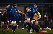 8 January 2021; Caelan Doris of Leinster is tackled by John Cooney of Ulster during the Guinness PRO14 match between Leinster and Ulster at the RDS Arena in Dublin. Photo by Ramsey Cardy/Sportsfile
