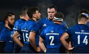 8 January 2021; James Ryan of Leinster speaks to his team-mates during the Guinness PRO14 match between Leinster and Ulster at the RDS Arena in Dublin. Photo by Brendan Moran/Sportsfile