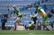 22 November 2020; Jason Coyne of Mayo in action against Stephen Gillespie of Donegal during the Nickey Rackard Cup Final match between Donegal and Mayo at Croke Park in Dublin. Photo by Piaras Ó Mídheach/Sportsfile