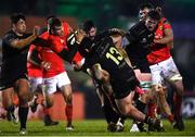 9 January 2021; Chris Farrell of Munster is tackled by Sammy Arnold of Connacht during the Guinness PRO14 match between Connacht and Munster at the Sportsground in Galway. Photo by David Fitzgerald/Sportsfile