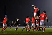 9 January 2021; Jean Kleyn of Munster and Gavin Thornbury of Connacht contest a lineout during the Guinness PRO14 match between Connacht and Munster at the Sportsground in Galway. Photo by Sam Barnes/Sportsfile