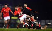 9 January 2021; Keith Earls of Munster is tackled by Peter Sullivan of Connacht during the Guinness PRO14 match between Connacht and Munster at the Sportsground in Galway. Photo by David Fitzgerald/Sportsfile