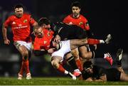 9 January 2021; Keith Earls of Munster is tackled by Peter Sullivan of Connacht during the Guinness PRO14 match between Connacht and Munster at Sportsground in Galway. Photo by David Fitzgerald/Sportsfile
