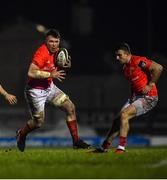 9 January 2021; Peter O'Mahony, left, and Shane Daly of Munster during the Guinness PRO14 match between Connacht and Munster at Sportsground in Galway. Photo by David Fitzgerald/Sportsfile