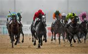 11 January 2021; Stay With Me, second from left, with Chris Hayes up, leads the field on their way to winning the Irishinjuredjockeys.com Handicap DIV I at Dundalk Stadium, in Louth. Photo by Seb Daly/Sportsfile