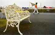 11 January 2021; A bench in the public areas is taped off prior to racing at Dundalk Stadium, in Louth. Photo by Seb Daly/Sportsfile