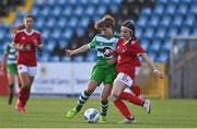 23 December 2020; Wiktoria Gorczyca of Shamrock Rovers in action against Ava Lotty of Cork City during the Women's Under-17 National League Final match between Shamrock Rovers and Cork City at Athlone Town Stadium in Athlone, Westmeath. Photo by Sam Barnes/Sportsfile