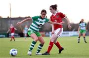 23 December 2020; Ava Cullen of Shamrock Rovers in action against Orlaith Deasy of Cork City during the Women's Under-17 National League Final match between Shamrock Rovers and Cork City at Athlone Town Stadium in Athlone, Westmeath. Photo by Sam Barnes/Sportsfile