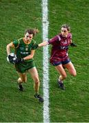 20 December 2020; Orla Byrne of Meath in action against Tara Fagan of Westmeath during the TG4 All-Ireland Intermediate Ladies Football Championship Final match between Meath and Westmeath at Croke Park in Dublin. Photo by Sam Barnes/Sportsfile