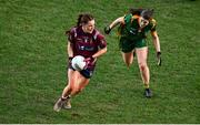 20 December 2020; Tracey Dillon of Westmeath in action against Bridgetta Lynch of Meath during the TG4 All-Ireland Intermediate Ladies Football Championship Final match between Meath and Westmeath at Croke Park in Dublin. Photo by Sam Barnes/Sportsfile
