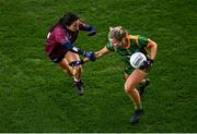 20 December 2020; Katie Newe of Meath in action against Ciara Blundell of Westmeath during the TG4 All-Ireland Intermediate Ladies Football Championship Final match between Meath and Westmeath at Croke Park in Dublin. Photo by Sam Barnes/Sportsfile