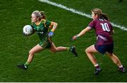 20 December 2020; Megan Thynne of Meath in action against Anna Jones of Westmeath during the TG4 All-Ireland Intermediate Ladies Football Championship Final match between Meath and Westmeath at Croke Park in Dublin. Photo by Sam Barnes/Sportsfile