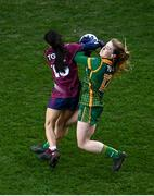 20 December 2020; Orlagh Lally of Meath in action against Ciara Blundell of Westmeath during the TG4 All-Ireland Intermediate Ladies Football Championship Final match between Meath and Westmeath at Croke Park in Dublin. Photo by Sam Barnes/Sportsfile
