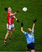 20 December 2020; Hannah Looney of Cork in action against Carla Rowe of Dublin during the TG4 All-Ireland Senior Ladies Football Championship Final match between Cork and Dublin at Croke Park in Dublin. Photo by Sam Barnes/Sportsfile