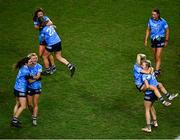 20 December 2020; Dublin players celebrate following their sides victory in the TG4 All-Ireland Senior Ladies Football Championship Final match between Cork and Dublin at Croke Park in Dublin. Photo by Sam Barnes/Sportsfile
