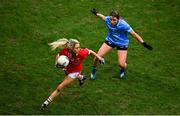 20 December 2020; Orla Finn of Cork in action against Aoife Kane of Dublin during the TG4 All-Ireland Senior Ladies Football Championship Final match between Cork and Dublin at Croke Park in Dublin. Photo by Sam Barnes/Sportsfile