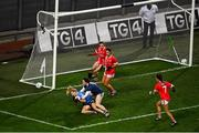 20 December 2020; Carla Rowe of Dublin is fouled by Martina O'Brien of Cork resulting in a penalty during the TG4 All-Ireland Senior Ladies Football Championship Final match between Cork and Dublin at Croke Park in Dublin. Photo by Sam Barnes/Sportsfile