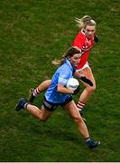 20 December 2020; Aoife Kane of Dublin in action against Saoirse Noonan of Cork during the TG4 All-Ireland Senior Ladies Football Championship Final match between Cork and Dublin at Croke Park in Dublin. Photo by Sam Barnes/Sportsfile