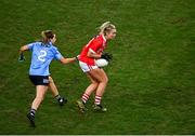 20 December 2020; Saoirse Noonan of Cork in action against Martha Byrne of Dublin during the TG4 All-Ireland Senior Ladies Football Championship Final match between Cork and Dublin at Croke Park in Dublin. Photo by Sam Barnes/Sportsfile