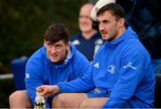 18 January 2021; Rónan Kelleher, right, and Dan Sheehan during Leinster Rugby squad training at UCD in Dublin. Photo by Ramsey Cardy/Sportsfile