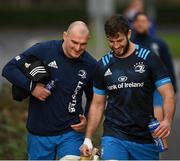 18 January 2021; Rhys Ruddock, left, and Caelan Doris during Leinster Rugby squad training at UCD in Dublin. Photo by Ramsey Cardy/Sportsfile