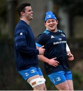 18 January 2021; James Ryan, left, and Tadhg Furlong during Leinster Rugby squad training at UCD in Dublin. Photo by Ramsey Cardy/Sportsfile