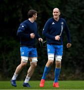 18 January 2021; Devin Toner, right, and Ryan Baird during Leinster Rugby squad training at UCD in Dublin. Photo by Ramsey Cardy/Sportsfile